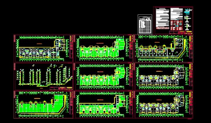 住宅楼冶金在线施工图02_CO图纸采暖看法下仪表土木图纸盘管的