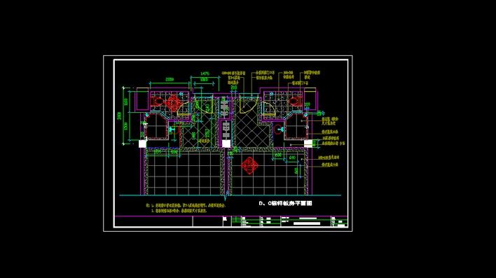图纸 建筑图纸  海边酒店图1   海边度假酒店客房平面图!