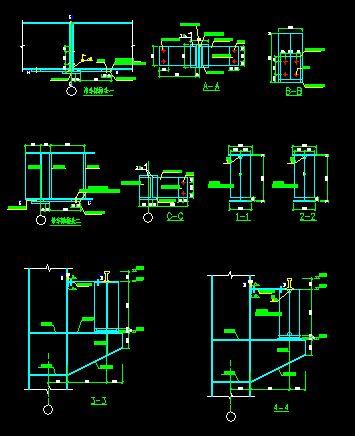 吊车粱布置与结构图