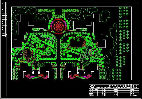 图纸 园林设计图 某工厂厂区绿化平面图  (0人评价)