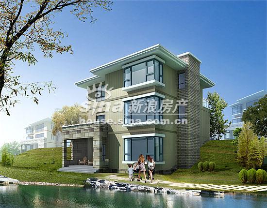 现代别墅效果图 现代中式别墅效果图 现代别墅设计效果图 两层200平别