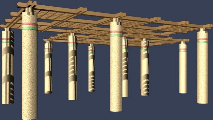 图纸 园林设计图  花架效果图   小区花架效果图含3d图  相关专题