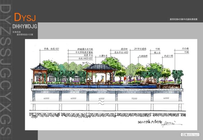 现代风格的景观水池平面图剖面图部分详图 混凝土材质青石板贴面景观
