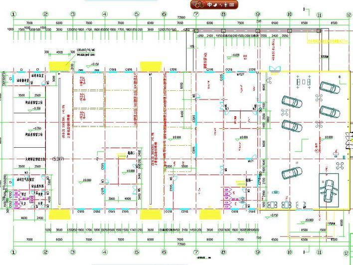 汽车4s店建筑设计 汽车4s店装修图纸