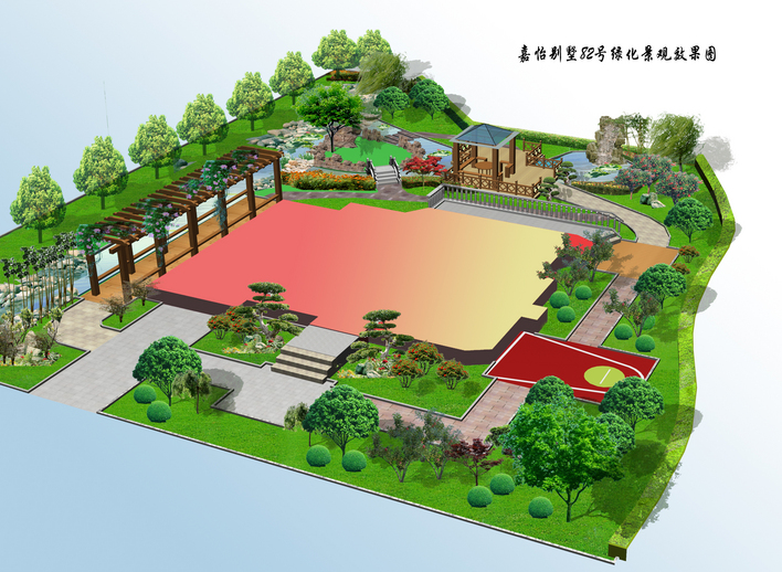 别墅景观设计_cad图纸下载-土木在线