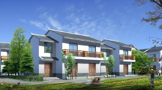新农村建设(4人户带效果图)高清图片