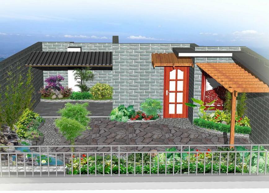 屋顶花园 中式古典图片