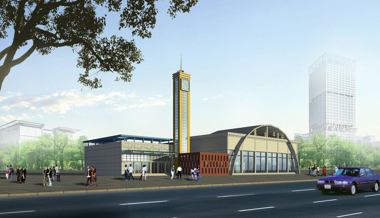 某地4层框架结构汽车站全套给排水施工图 内蒙古海拉尔汽车站供暖通风