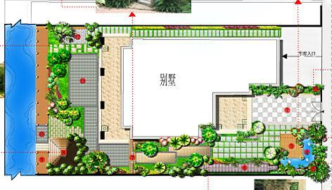 别墅庭院设计平面图 别墅庭院设计cad平面图 欧式别墅庭院设计平面图
