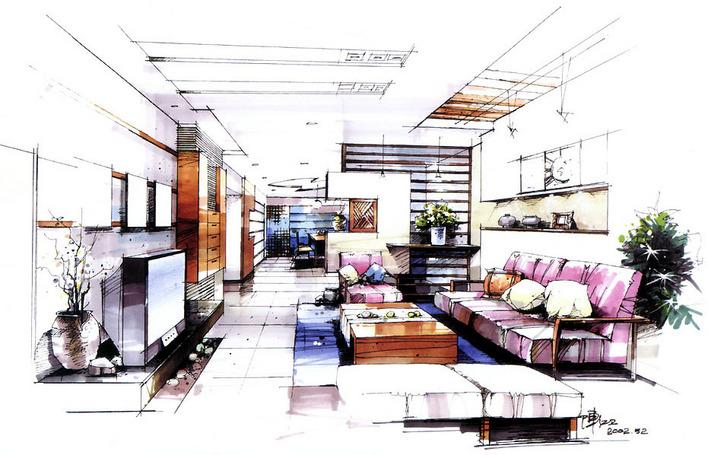 室内手绘图(含家具个体)