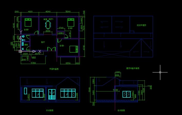 平房设计_cad图纸下载-土木在线