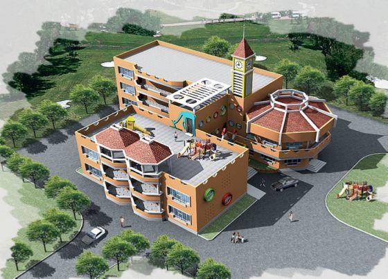 幼儿园设计效果图 幼儿园装修设计效果图  所属分类:建筑图纸  幼儿园