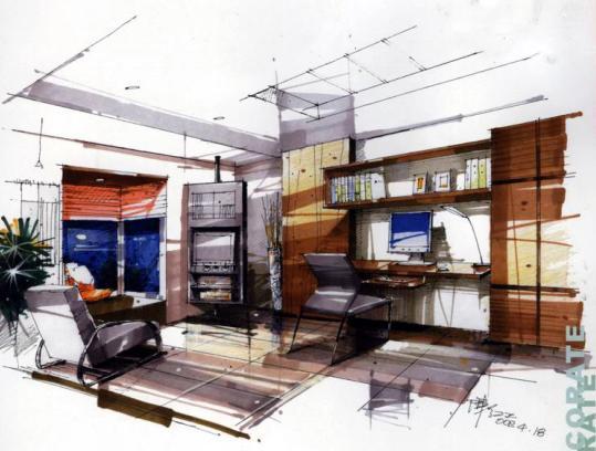 手绘效果图 室内手绘效果图 手绘景观平面效果图 室内设计手绘效果图