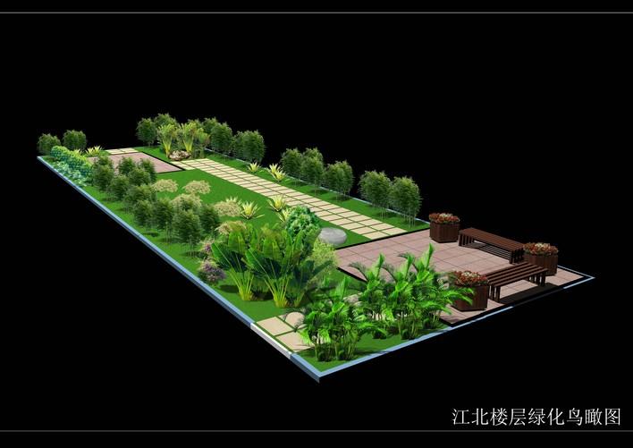 中式别墅庭院效果图 别墅庭院绿化设计效果图
