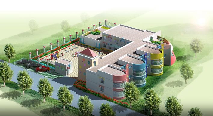某地经典六班幼儿园建筑设计方案图纸