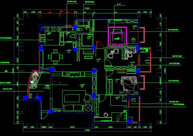 套房设计图纸、挺完整的该有的都有了_CO土木在线(原网易土木在线)