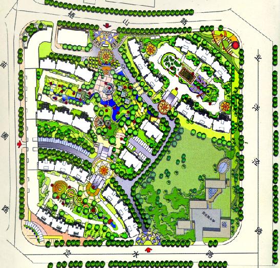 小区景观规划彩平05