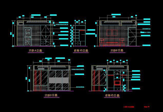 别墅装修设计图纸02高清图片