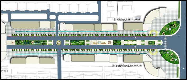 商业街景观设计cad 中式商业街景观设计 城市商业街景观设计 欧式商业