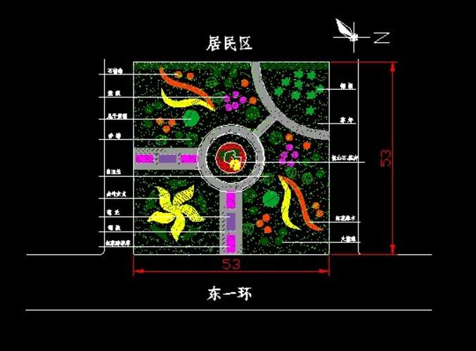 小游园公园绿化设计图