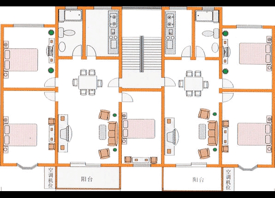 平图素材室内彩平图素材住宅经典户型平面图cad原图