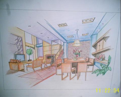手绘餐厅效果图
