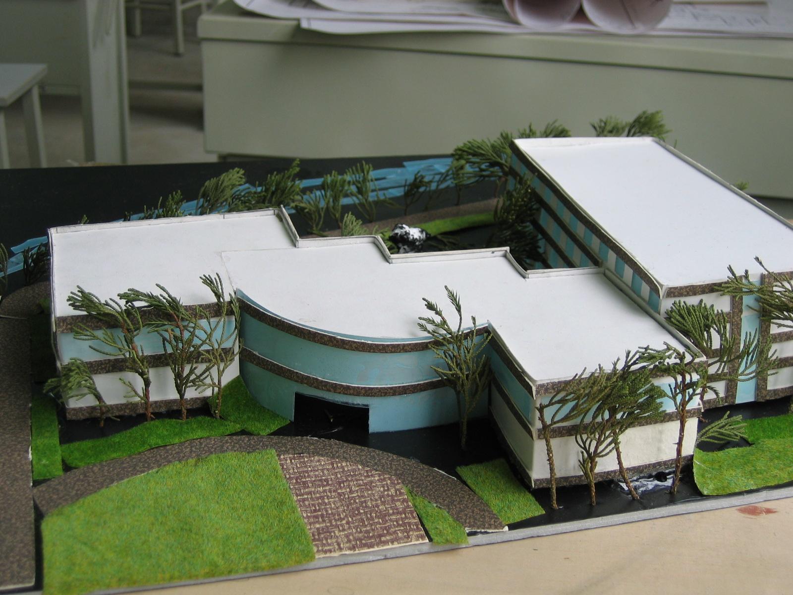 旅馆模型_co土木在线图纸下载;; 德国学生的建筑模型 手工制作