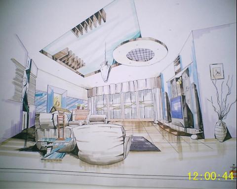 室内手绘效果图 手绘效果图