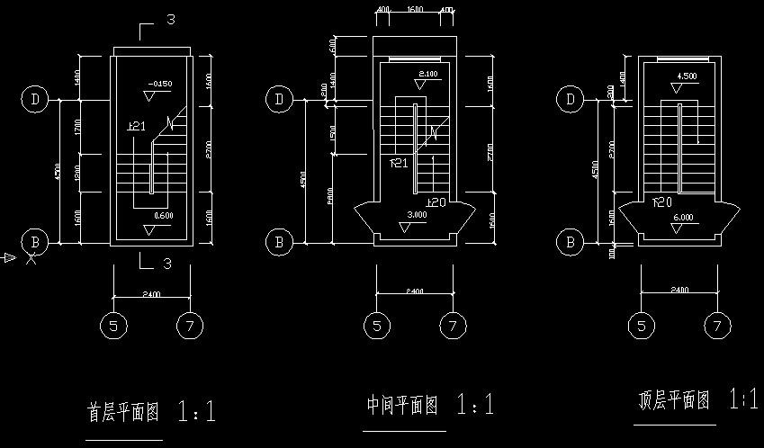 楼梯平面图画法蹲便器cad立面图图片