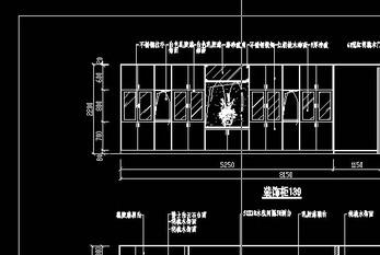 室内装修施工图-装饰柜