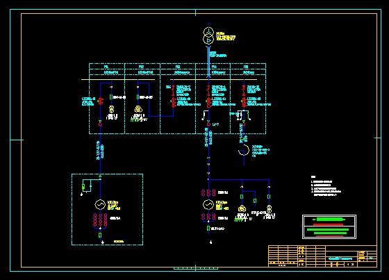 发电机出口10kv配电装置接线图