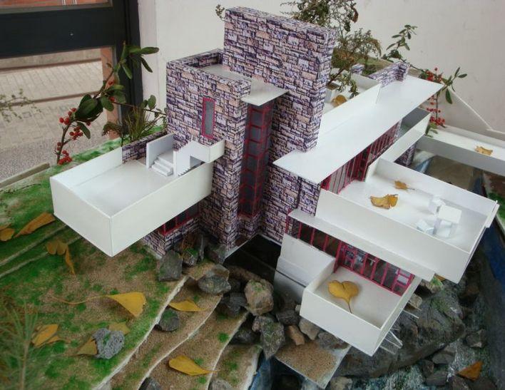 流水别墅模型制作效果图2_CO土木在线(原网易