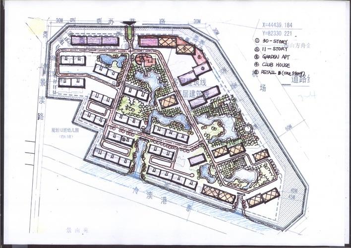 图景观小品手绘图广场设计手绘图儿童房设计手绘图