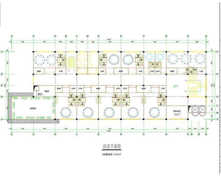 图纸 建筑图纸  商业建筑  餐厅设计  餐厅平面图   餐厅平面布置