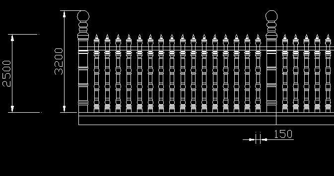厂区围墙大门效果图; 砖砌围墙施工图; 围墙护栏设计图;