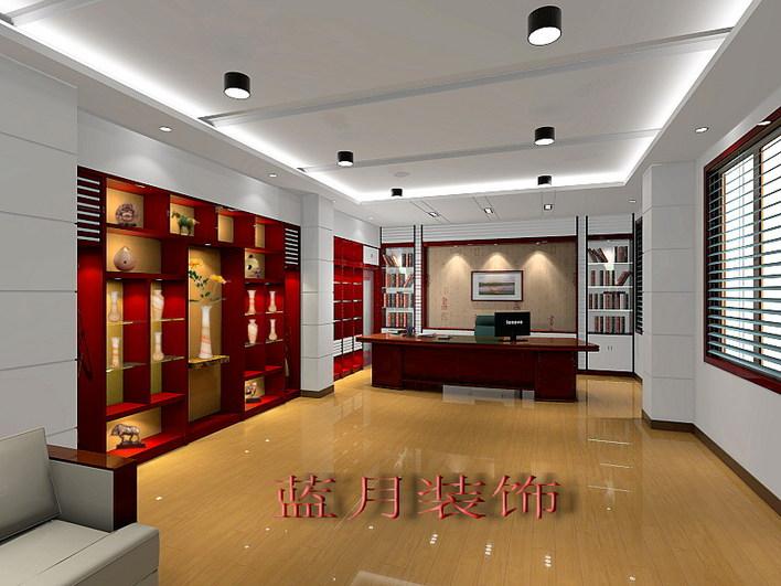 复式办公室装修图 小型办公室装修图 家庭办公室装修图  所属分类