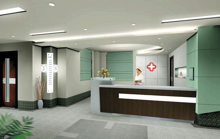 室内设计透视图 咖啡厅室内透视效果图 成角透视室内设计图 医院室内