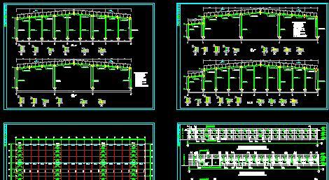 某地单层6m/15m跨门式刚架结构厂房结构施工图(带夹层