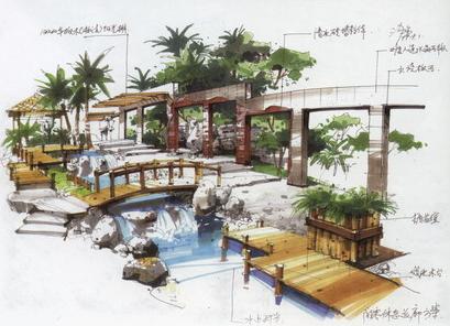 相关专题:沙沛手绘 花坛设计手绘图 展馆设计手绘图 水景设计手绘图