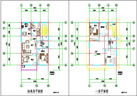 新农村实用型别墅平面图