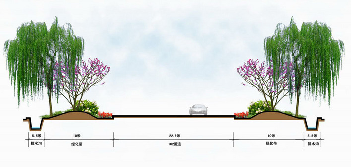 土木绿化断面图_CO道路在线(原网易土木在线cad画蛋形怎么图片
