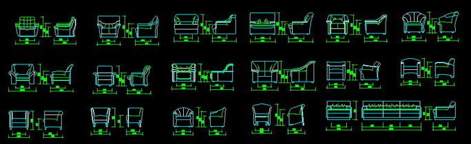 客廳沙發立面圖沙發背景墻立面圖中式沙發cad立面圖