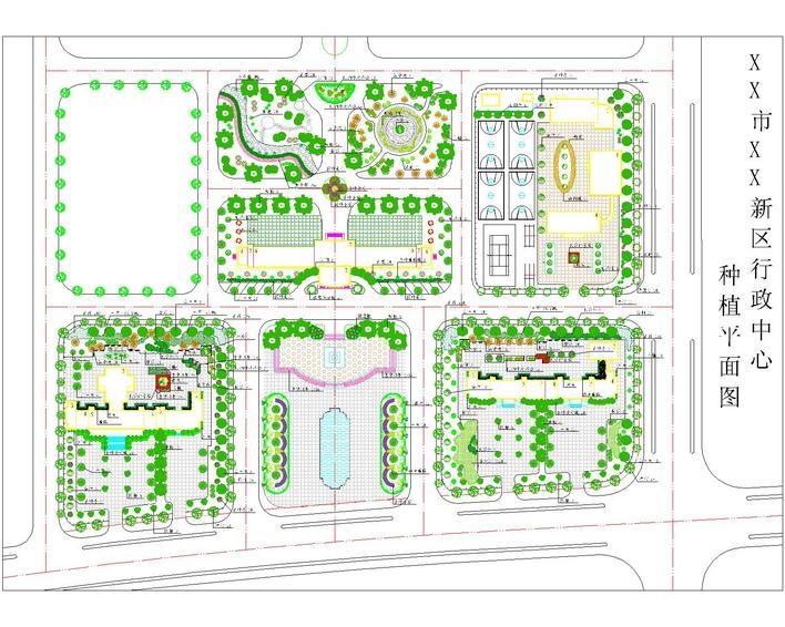 中心规划植物配置