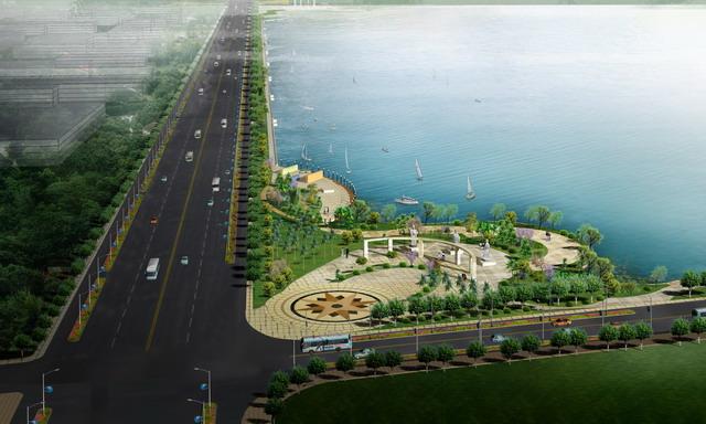 滨水广场景观及绿化设计