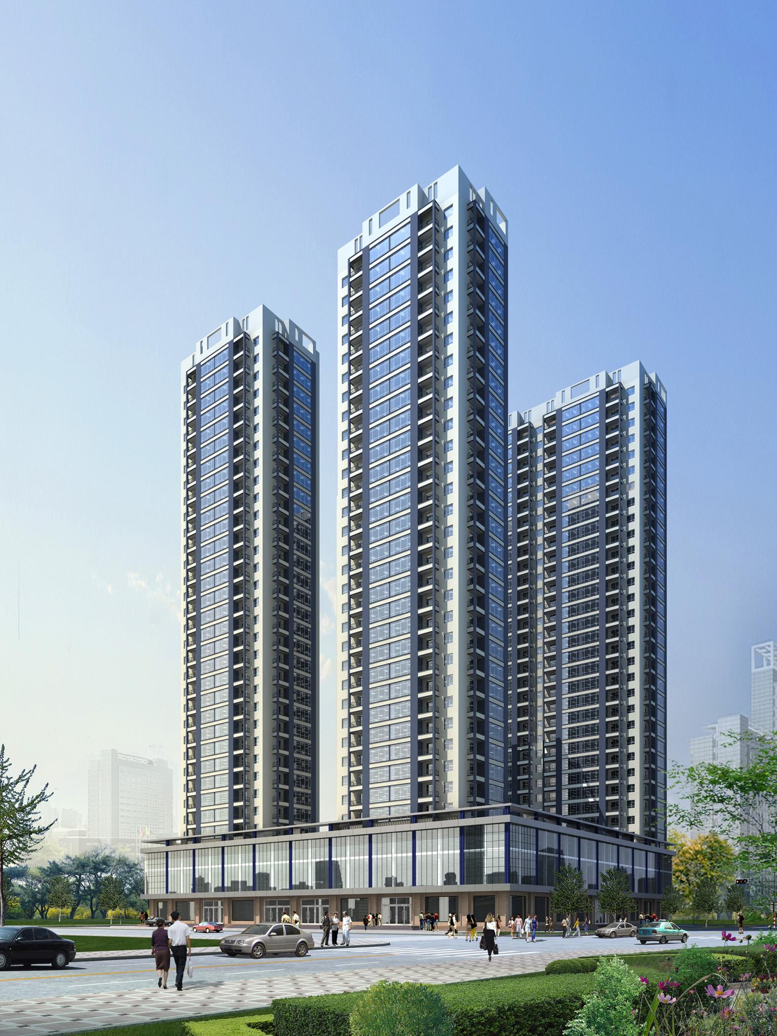 1高层住宅方案 高清图片