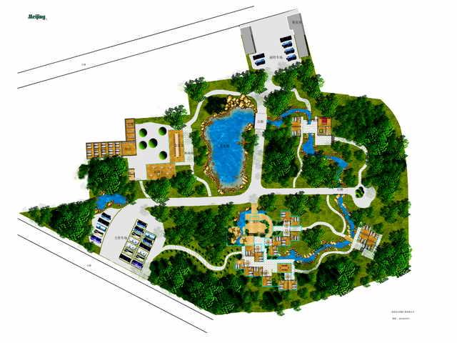 和设计案例平面图 某屋顶花园绿化设计施工布置详图