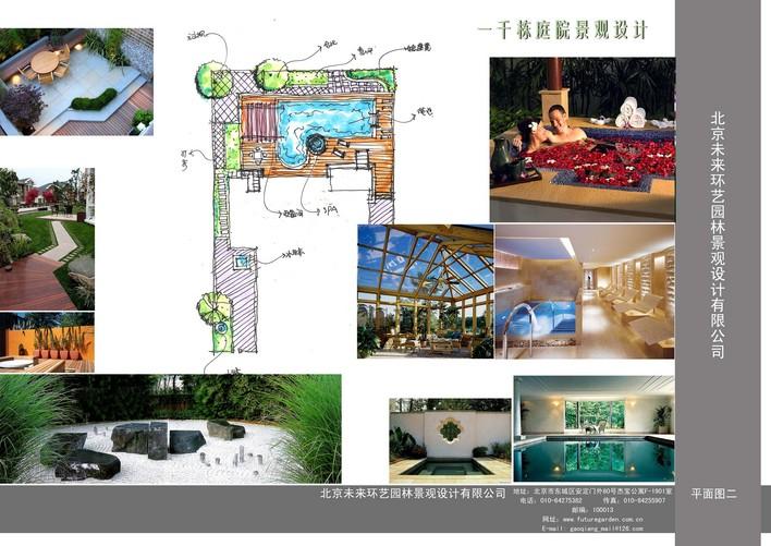 景观种植和设计案例平面图 某小区住宅楼屋顶花园平面图及花架施工图