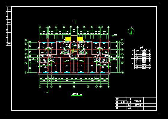 六层电气建筑图标注1w是意图×何住宅纸21图片
