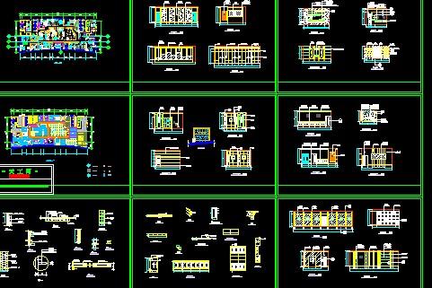 图纸 装修设计  别墅装修  欧式别墅装修  办公空间装修图   平面和