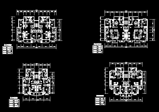 百套多层,中高层住宅楼平面户型图方案设计 某地高层住宅小区规划方案